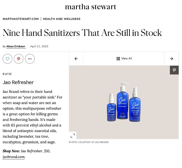 Martha Stewart: Hand Sanitizers That Are Still in Stock