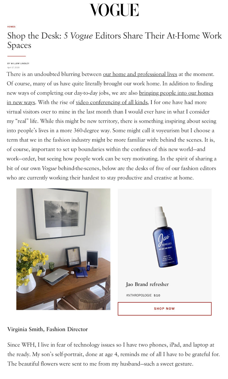 Vogue: Vogue Editors Share Their At-Home Work Spaces Jao Refresher