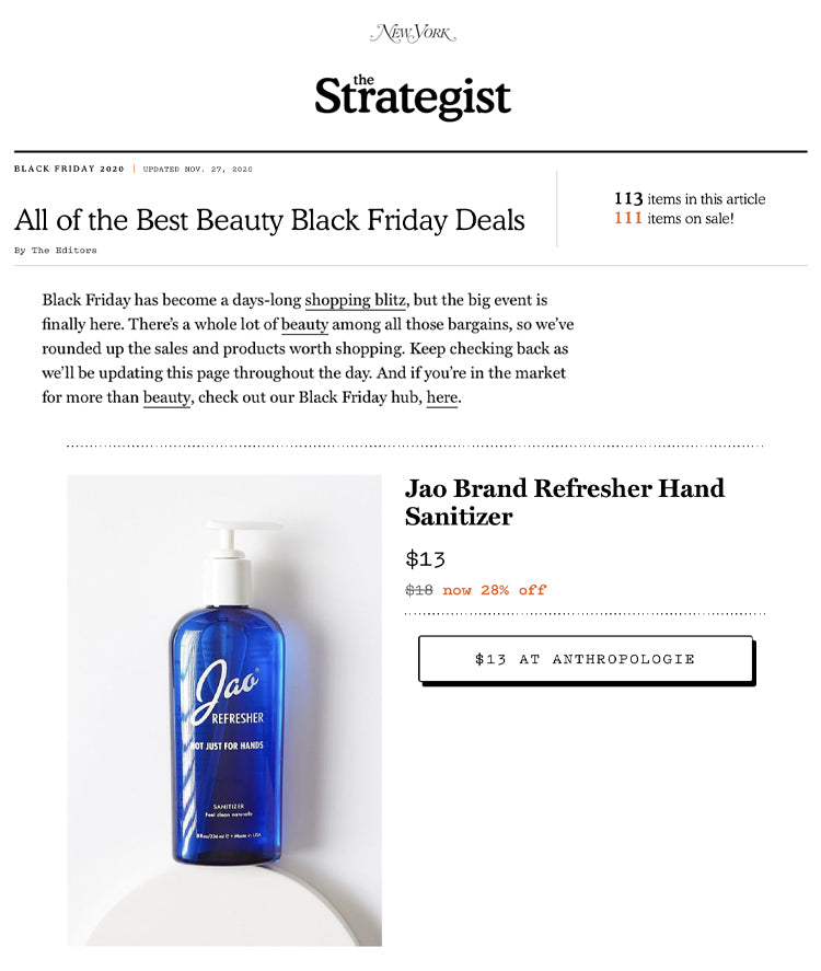 The Strategist: Best Beauty Black Friday Deals Jao Refresher