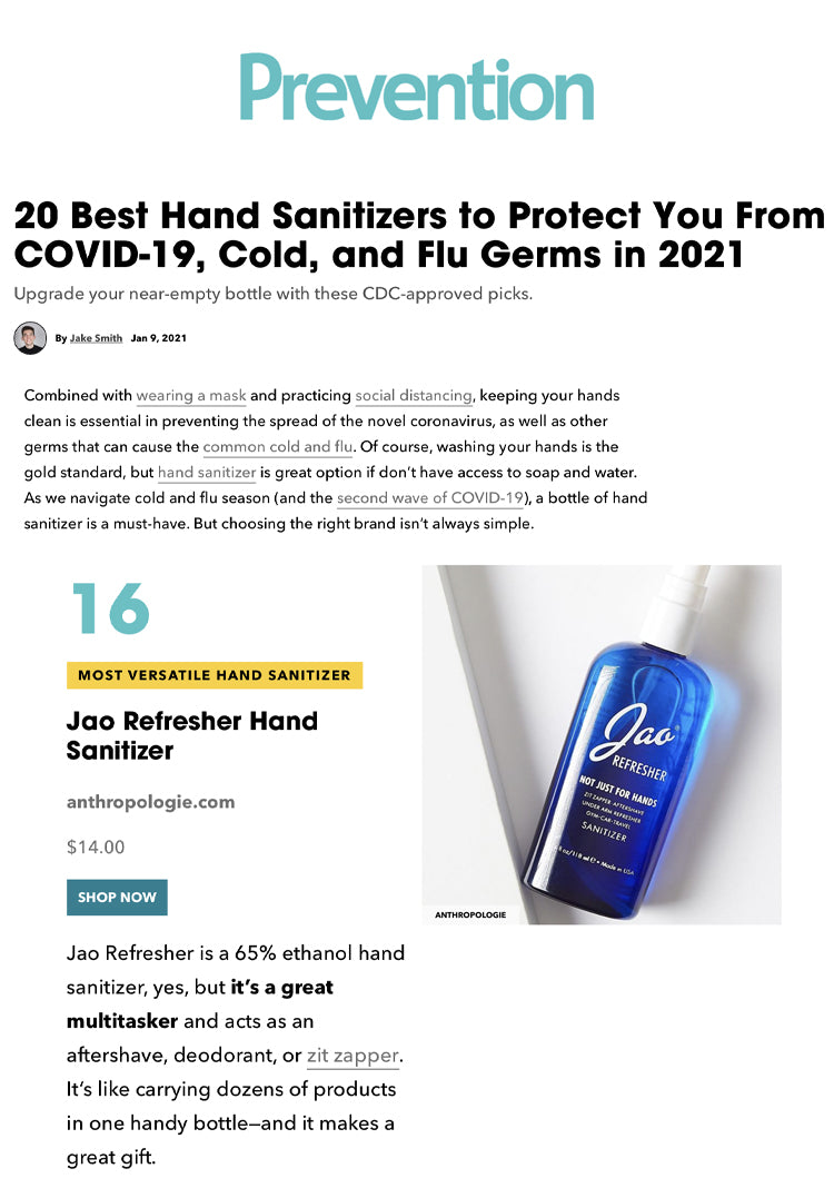 Prevention: Best Hand Sanitizers to Protect You From COVID-19, Cold, and Flu Germs in 2021 Jao Refresher
