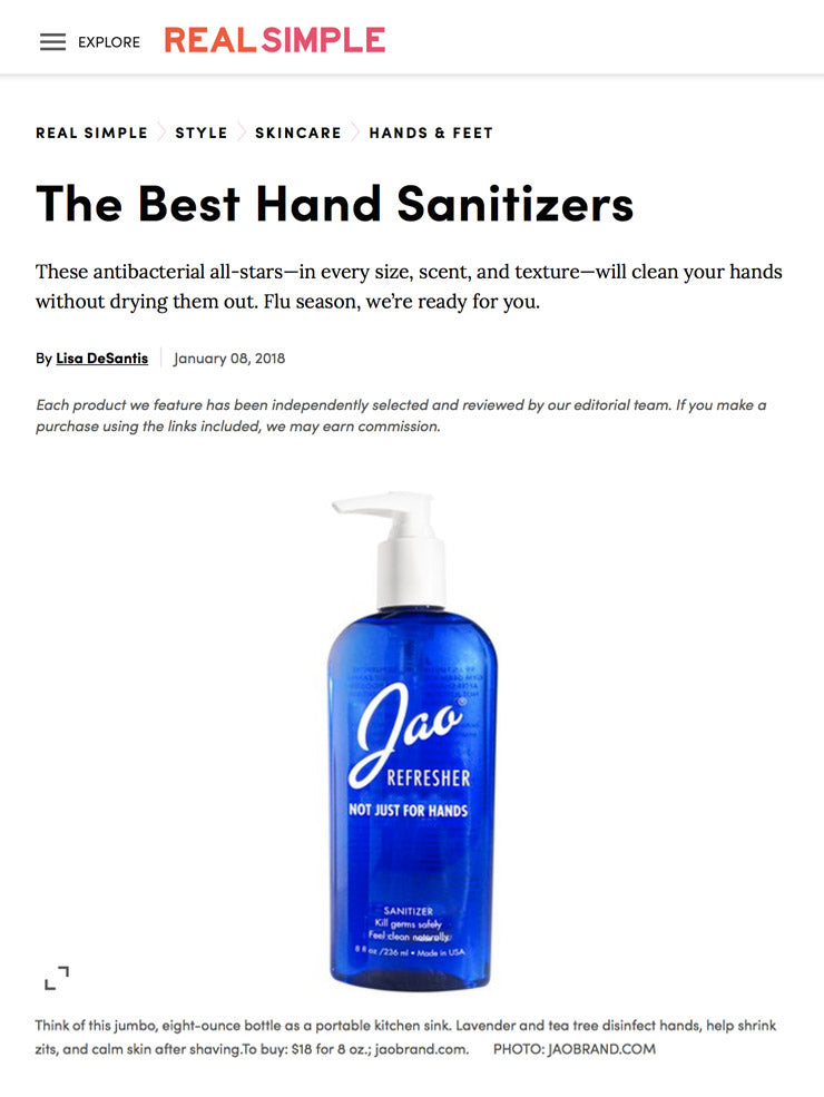 Real Simple The Best Hand Sanitizers Jao Refresher