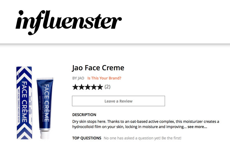 Jao Face Creme on Influenster