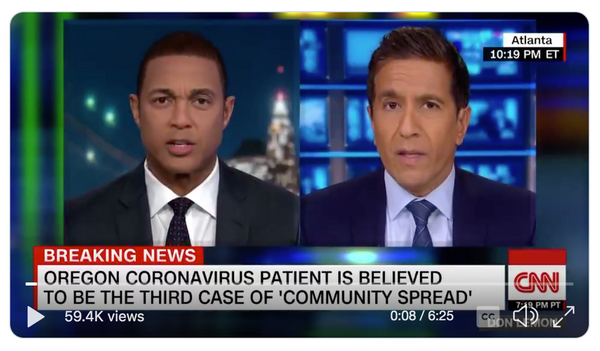 CNN Don Lemon and Sanjay Gupta discuss Jao sanitizer