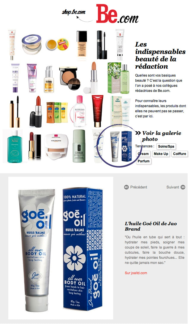 Be.com - The French Love Goe Oil!