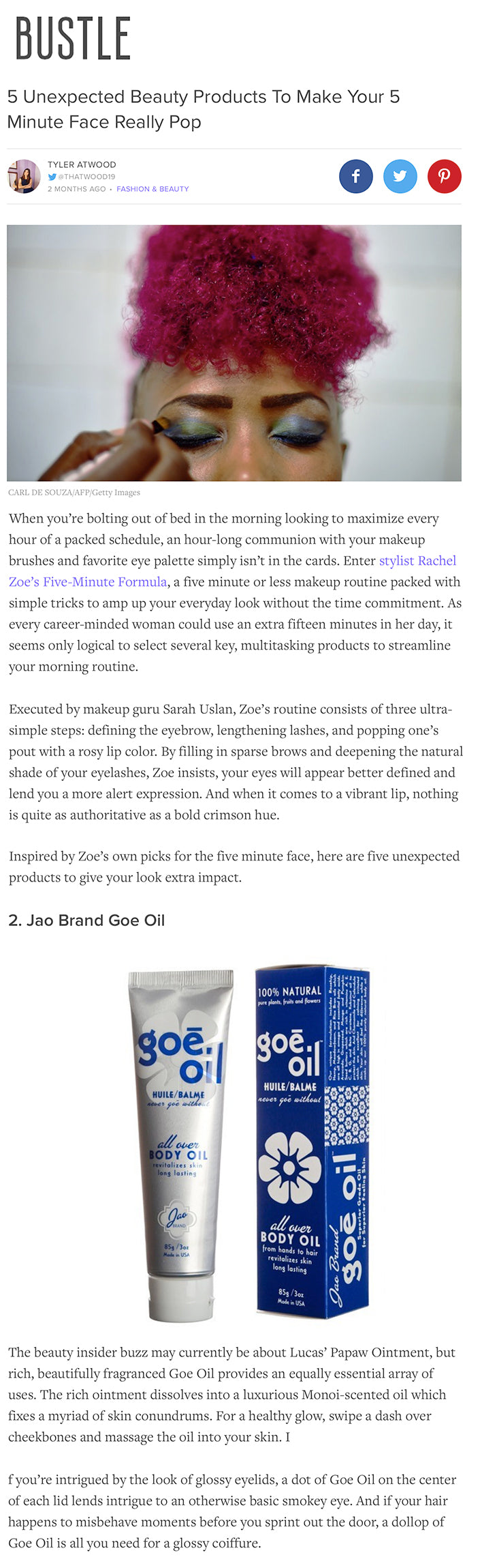 Bustle - 5 Unexpected Beauty Products