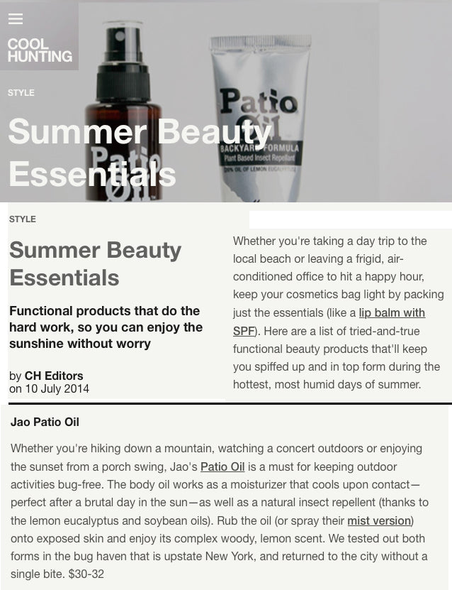 Cool Hunting Summer Beauty Essentials