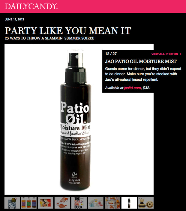 DailyCandy : Moisture Mist for Summer Parties