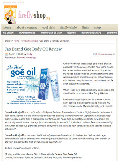 Goe Body Oil Review