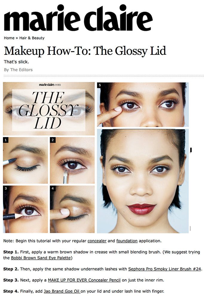 Makeup How-To: Goe for The Glossy Lid - Marie Claire