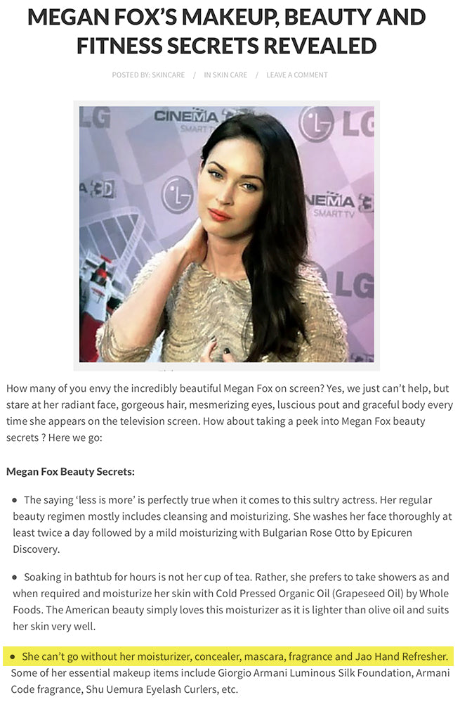 Megan Fox has to have her Jao