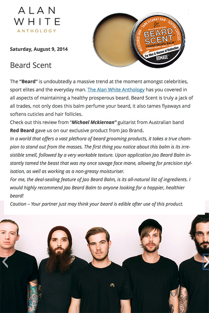 Australian band Red Beard reviews Beardscent