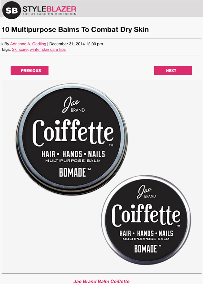 Style Blazer - Coiffette Multipurpose Balm to Combat Dry Skin