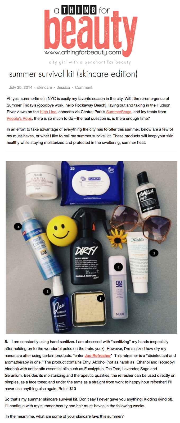 A Thing for Beauty - Summer Survival Kit
