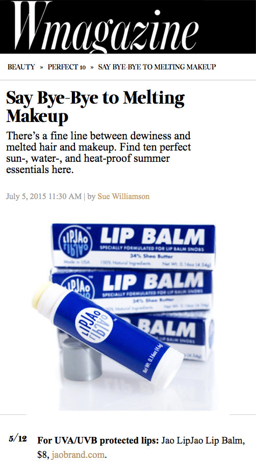 W Magazine : Heatproof Makeup