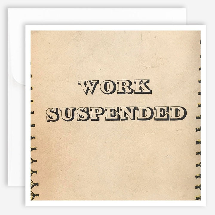 Note Card - Work Suspended - Jao Brand