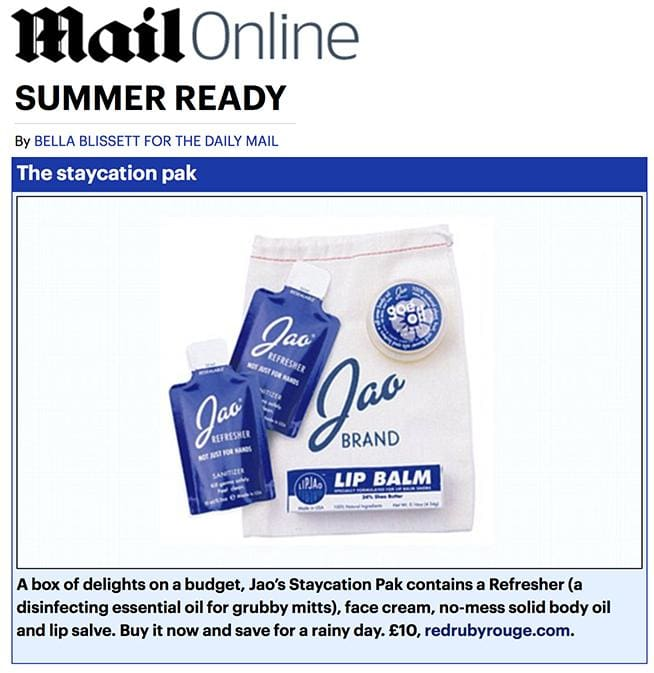 Daily Mail Online - Jao Staycation Pak