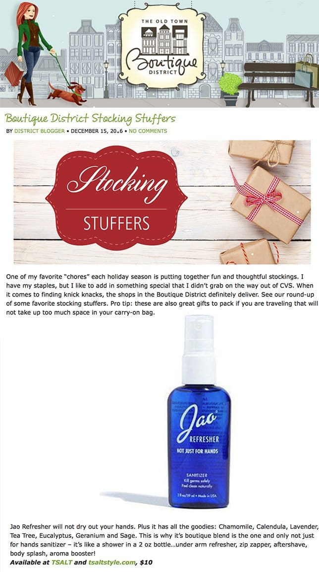 Boutique District Stocking Stuffers Jao Refresher
