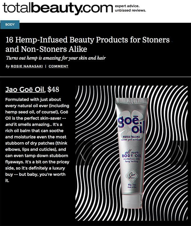 16 Hemp-Infused Beauty Products - Goe Oil