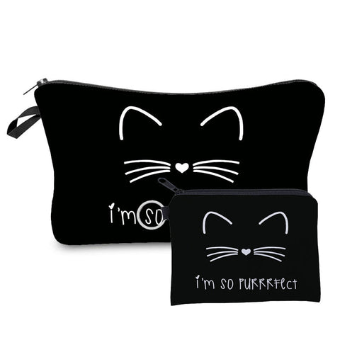 Catie, purrrfect Cosmetic case, perfect travel pouch.