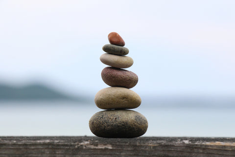 balanced stones, mindful living, work life balance