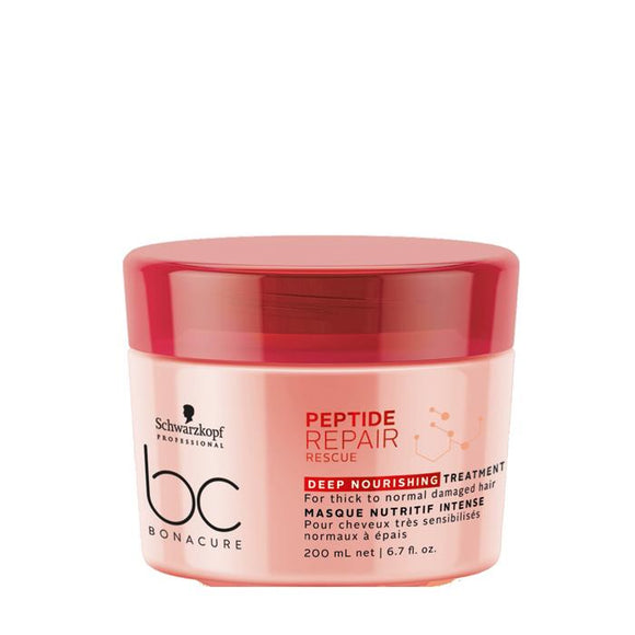 SCHWARZKOPF BC BONACURE PEPTIDE REPAIR RESCUE DEEP NOURISHING MASK TREATMENT