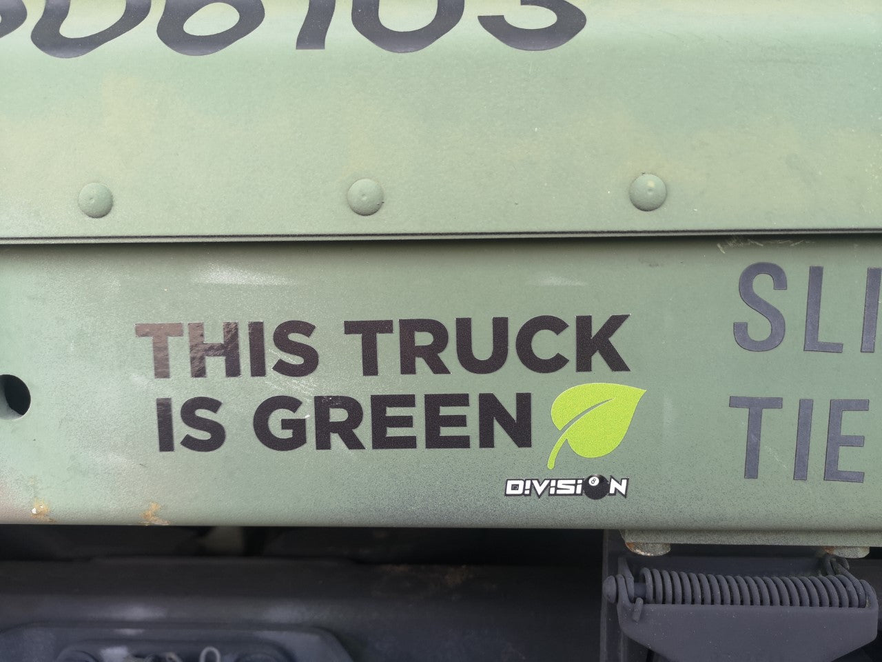 THIS TRUCK IS GREEN - STICKER
