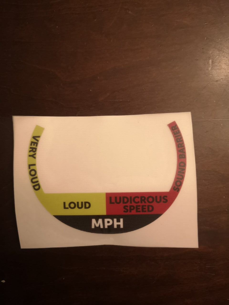 SPEEDOMETER - STICKER