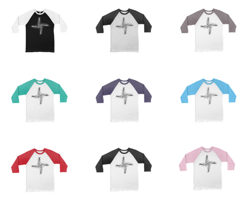 Our baseball tees are now in stock in 9 color combinations for faster shipping!