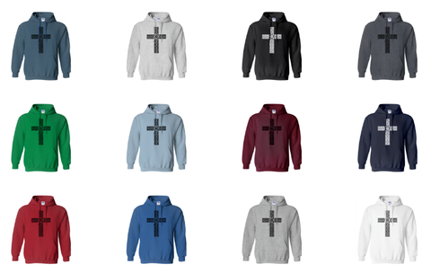 Now offering a classic fit hoodie sweatshirt in 12 colors!