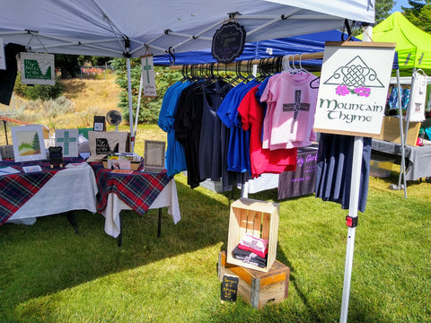 Mountain Thyme booth at Pine Valley Days
