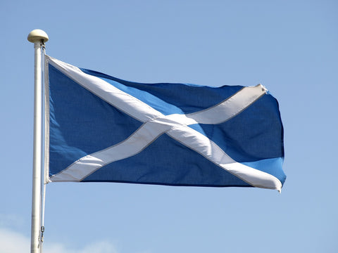 The Saltire, the national flag of Scotland