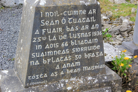 Gaelic inscription on a stone