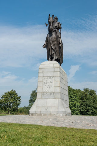 King Robert the Bruce statue in Scotland