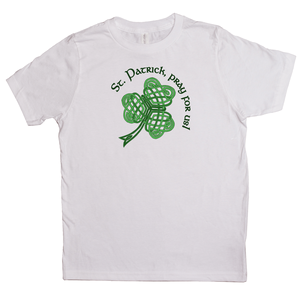 St. Patrick, Pray For Us! Youth T-shirt - Mountain Thyme