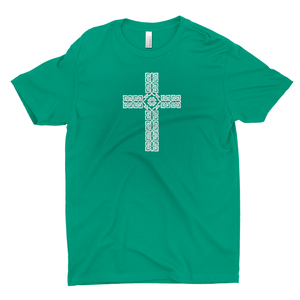 Celtic Cross (Small) Premium T-shirt - Mountain Thyme