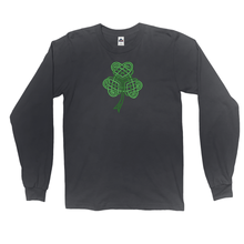 Load image into Gallery viewer, Celtic Shamrock Long Sleeve Shirt - Mountain Thyme