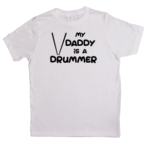 My Daddy is a Drummer Youth T-shirt - Mountain Thyme