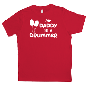 My Daddy is a Drummer (Bass) Youth T-shirt - Mountain Thyme