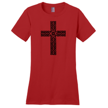 Load image into Gallery viewer, Celtic Cross Ladies T-shirt - Mountain Thyme