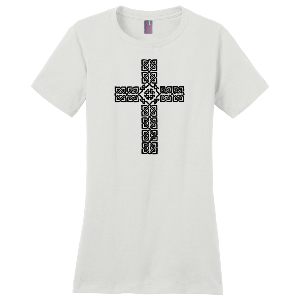 Celtic Cross Ladies T-shirt - Mountain Thyme