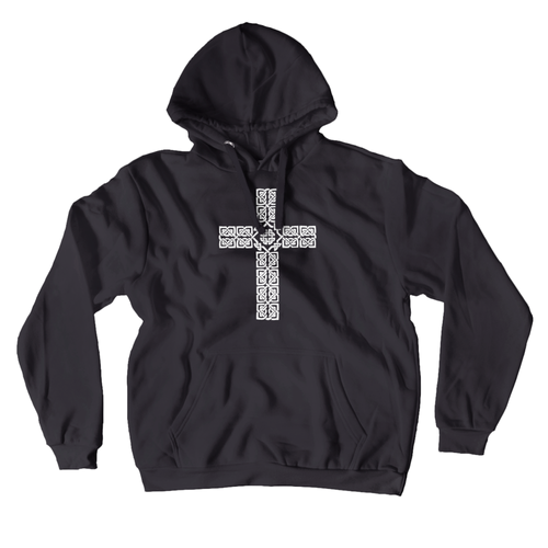 Celtic Cross Premium Hoodie Pullover Sweatshirt - Mountain Thyme