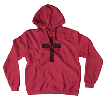 Load image into Gallery viewer, Celtic Cross Premium Hoodie Pullover Sweatshirt - Mountain Thyme