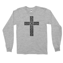 Load image into Gallery viewer, Celtic Cross Long Sleeved Shirt - Mountain Thyme
