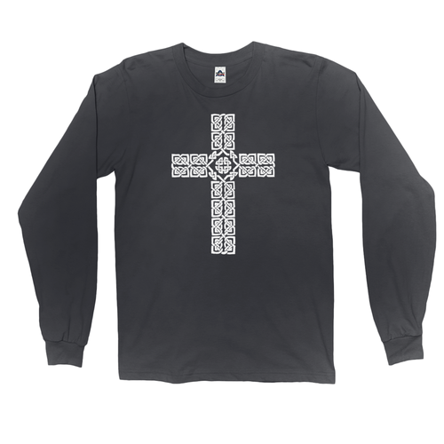 Celtic Cross Long Sleeved Shirt - Mountain Thyme