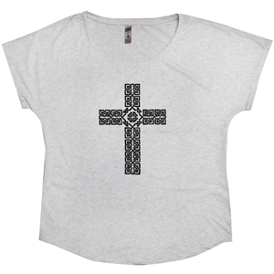 Celtic Cross Ladies Dolman Tee - Mountain Thyme