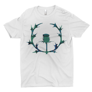 Tartan Thistle Premium T-shirt - Mountain Thyme