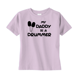 My Daddy is a Drummer (Bass) Toddler T-shirt - Mountain Thyme