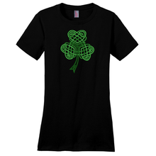 Load image into Gallery viewer, Celtic Shamrock Ladies T-shirt - Mountain Thyme
