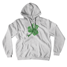 Load image into Gallery viewer, Celtic Shamrock Premium Hoodie Pullover Sweatshirt - Mountain Thyme
