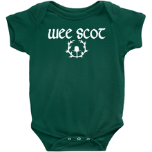 "Load image into Gallery viewer, ""Wee Scot"" Baby Bodysuit - Mountain Thyme"